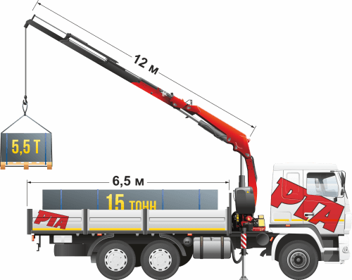 МАЗ-6312 Fassi 245